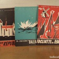 Coleccionismo de Revista Temas Españoles: EL CRUCERO BALEARES.- HISTORIA DE LA 2ª REPÚBLICA.- TOGLIATTI Y LOS SUYOS EN ESPAÑA . Lote 89308440
