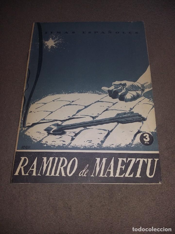 RAMIRO DE MAEZTU. TEMAS ESPAÑOLES, NÚM. 108 - AGUIRRE PRADO, LUIS REF. EST. 236 (Papel - Revistas y Periódicos Modernos (a partir de 1.940) - Revista Temas Españoles)