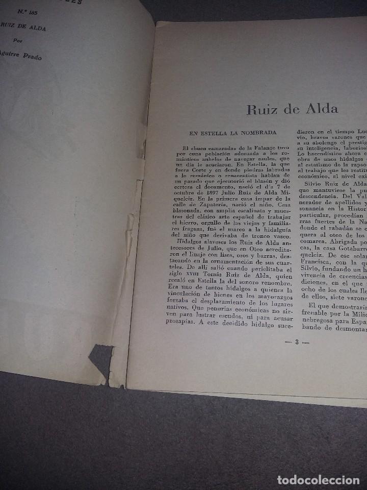 Coleccionismo de Revista Temas Españoles: TEMAS ESPAÑOLES, RUIZ DE ALDA, Nº 165 REF. EST. 236 - Foto 2 - 91261845