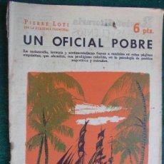 Coleccionismo de Revista Temas Españoles: REVISTA LITERARIA NOVELA Y CUENTOS AÑOS 50 Y 60 - UN OFICIAL POBRE. Lote 91882845