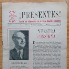 Coleccionismo de Revista Temas Españoles: ¡PRESENTES! BOLETIN DE INFORMACION DE LA VIEJA GUARDIA ALICANTINA 1954. Lote 91954775