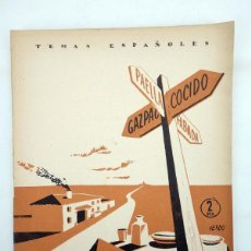 Coleccionismo de Revista Temas Españoles: TEMAS ESPAÑOLES 33. MAPA GASTRONÓMICO (LUÍS DE FONTEFRÍAS) PUBLICACIONES ESPAÑOLAS, 1956. Lote 99961240