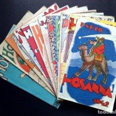 Coleccionismo de Revista Temas Españoles: ¡¡HOSANNA!!,AÑO 1942 COMPLETO DE 12 REVISTAS,ORGANO OFICIAL DE LA CRUZADA EUCARISTICA (DESCRIPCIÓN). Lote 100211439