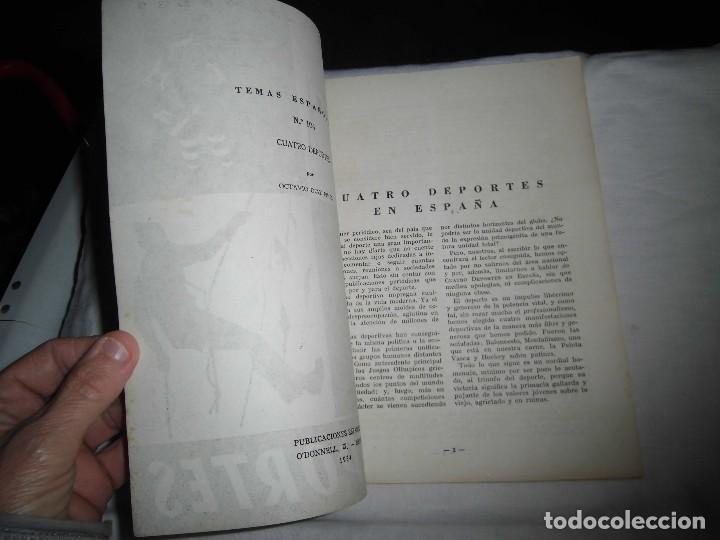 Coleccionismo de Revista Temas Españoles: 4 DEPORTES.-OCTAVIO DIAZ PINES.TEMAS ESPAÑOLES Nº 104.MADRID 1954 - Foto 2 - 101231895
