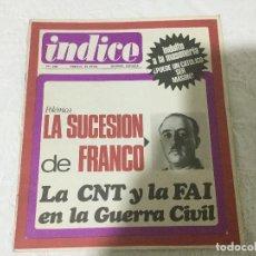 Coleccionismo de Revista Temas Españoles: REVISTA INDICE. NUMERO 238. AÑO XXIV. MADRID, DICIEMBRE 1968.. Lote 103790955