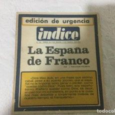 Coleccionismo de Revista Temas Españoles: REVISTA INDICE. LA ESPAÑA DE FRANCO. NÚMERO 241. AÑO XXIV. MADRID, FEBRERO 1969.. Lote 103793239