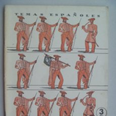 Coleccionismo de Revista Temas Españoles: TEMAS ESPAÑOLES : LA 1ª GUERRA CARLISTA , DE SANTIAGO GALINDO HERRERO . 1959. Lote 105023111