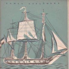 Coleccionismo de Revista Temas Españoles: DOMINGO MANFREDI CANO: JORGE JUAN. TEMAS ESPAÑOLES Nº 151. Lote 112320603