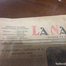 Coleccionismo de Revista Temas Españoles: PERIÓDICO LA NACIÓN 1927. Lote 112731767
