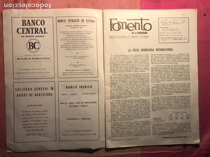 Coleccionismo de Revista Temas Españoles: FOMENTO DE PRODUCCION REVISTA INDUSTRIA COMERCIO FINANZAS INVERSIONES EXTRANJERAS BARCELONA 1971 (4 - Foto 2 - 113187098