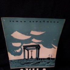 Coleccionismo de Revista Temas Españoles: REVISTA TEMAS ESPAÑOLES - AVILA Nº 287 - VIDAL BENITO REVUELTA - AÑO 1956. Lote 114132199