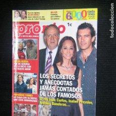 Coleccionismo de Revista Temas Españoles: F1 PRONTO Nº 1929 AÑO 2009 LOS SECRETOS Y ANECDOTAS DE LOS FAMOSOS JAMAS CONTADAS. Lote 114209279