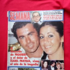 Coleccionismo de Revista Temas Españoles: REVISTA SEMANA AÑO 1985 ISABEL PANTOJA Y PAQUIRRI PORTADA. Lote 115544188