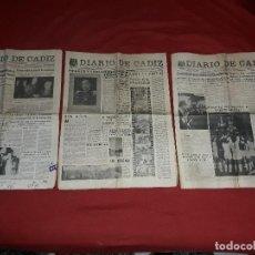 Coleccionismo de Revista Temas Españoles: ANTIGUOS DIARIOS DE CADIZ. Lote 118740575