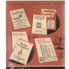 Coleccionismo de Revista Temas Españoles: TEMAS ESPAÑOLES. Nº 215. REVISTAS CULTURALES DE POSTGUERRA. PUBLICACIONES ESPAÑOLAS 1955. (ST/B101). Lote 125701383