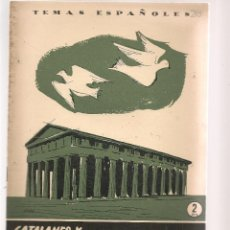 Coleccionismo de Revista Temas Españoles: TEMAS ESPAÑOLES. Nº 283. CATALANES Y ARAGONESES EN EL MEDITERRANEO. P. ESPAÑOLAS 1956. (ST/B101). Lote 125727295