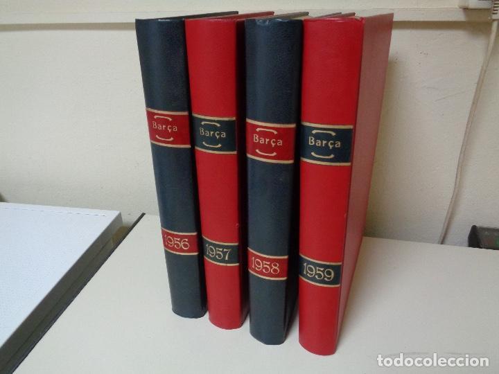 REVISTAS BARÇA CUATRO AÑOS ENCUADERNADOS LUJO (Papel - Revistas y Periódicos Modernos (a partir de 1.940) - Revista Temas Españoles)