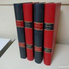 Coleccionismo de Revista Temas Españoles: REVISTAS BARÇA CUATRO AÑOS ENCUADERNADOS LUJO. Lote 127167483
