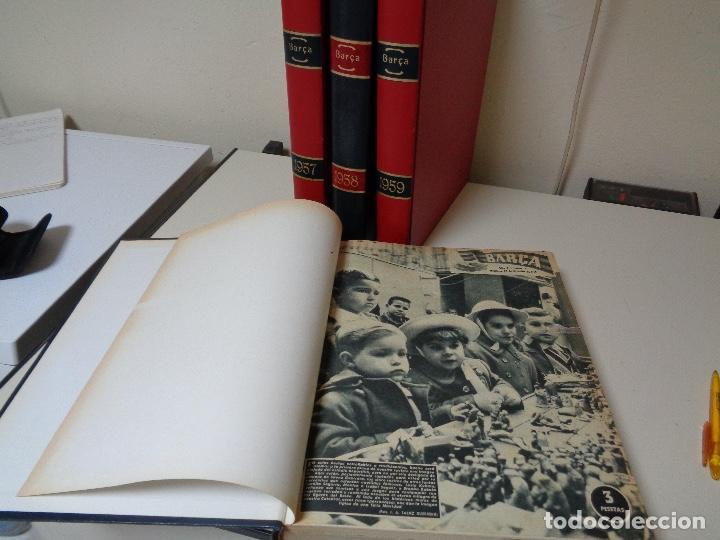 Coleccionismo de Revista Temas Españoles: Revistas Barça cuatro años encuadernados lujo - Foto 2 - 127167483