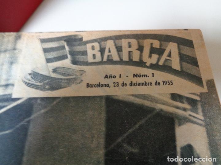 Coleccionismo de Revista Temas Españoles: Revistas Barça cuatro años encuadernados lujo - Foto 3 - 127167483