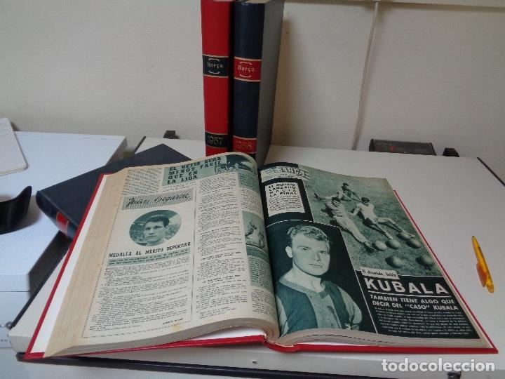 Coleccionismo de Revista Temas Españoles: Revistas Barça cuatro años encuadernados lujo - Foto 4 - 127167483