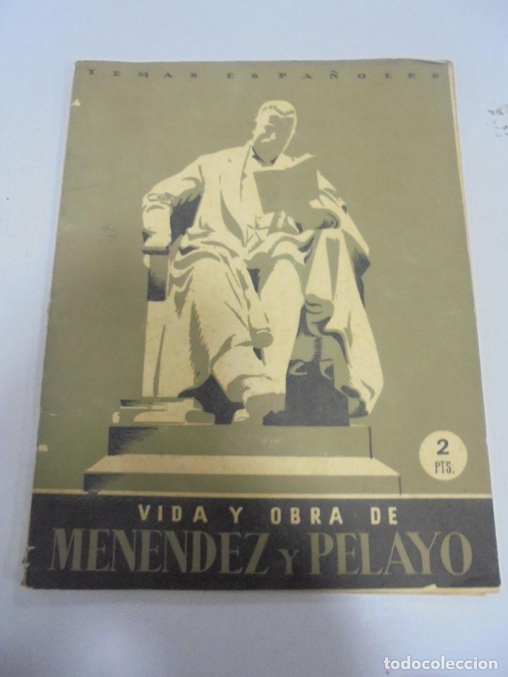 REVISTA TEMAS ESPAÑOLES. VIDA Y OBRA DE MENENDEZ Y PELAYO. Nº 12. AÑO 1952 (Papel - Revistas y Periódicos Modernos (a partir de 1.940) - Revista Temas Españoles)