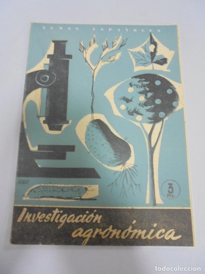 REVISTA TEMAS ESPAÑOLES. INVESTIGACION AGRONOMICA. Nº 391. AÑO 1959 (Papel - Revistas y Periódicos Modernos (a partir de 1.940) - Revista Temas Españoles)