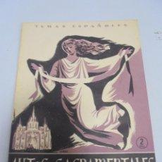 Coleccionismo de Revista Temas Españoles: REVISTA TEMAS ESPAÑOLES. AUTOS SACRAMENTALES. Nº 136. TERCERA EDICION. AÑO 1954. Lote 129228355