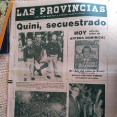 Coleccionismo de Revista Temas Españoles: **PERIÓDICO ORIGINAL DE LA ÉPOCA, ---QUNI SECUESTRADO--- CON EL COMPLEMENTO DOMINICAL**. Lote 132909702