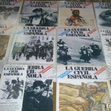 Coleccionismo de Revista Temas Españoles: LOTE 11 FASCICULOS COLECCIONABLES DE LA GUERRA CIVIL ESPAÑOLA DE HUGH TOMAS. Lote 133854082