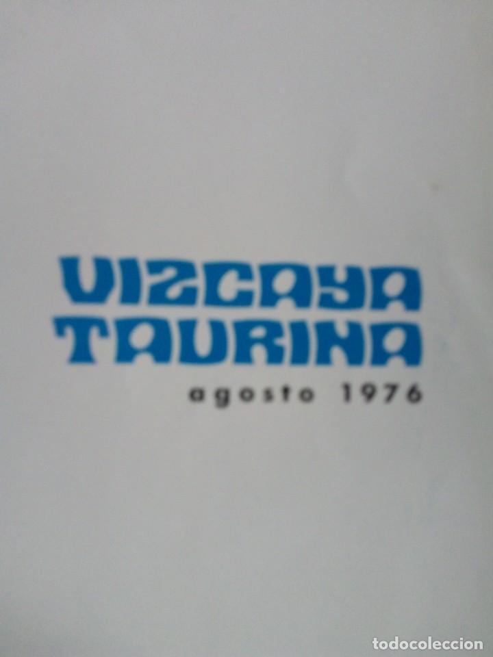 Coleccionismo de Revista Temas Españoles: REVISTA VIZCAYA TAURINA 1976 - Foto 2 - 140320826