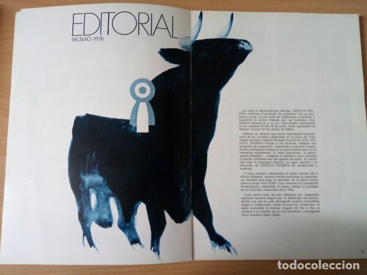 Coleccionismo de Revista Temas Españoles: REVISTA VIZCAYA TAURINA 1976 - Foto 4 - 140320826