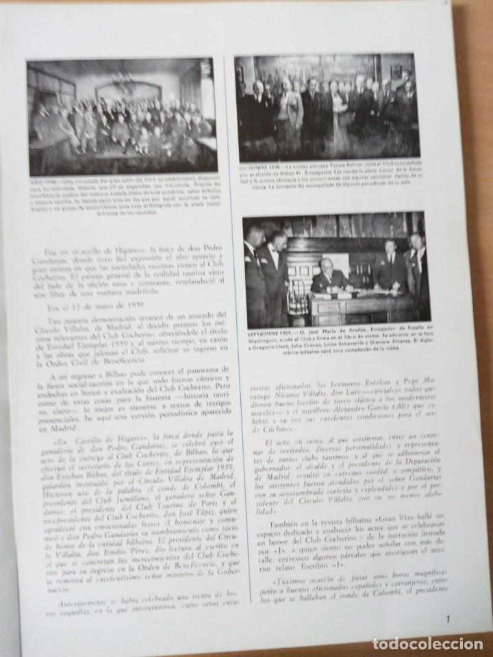 Coleccionismo de Revista Temas Españoles: REVISTA VIZCAYA TAURINA 1976 - Foto 6 - 140320826