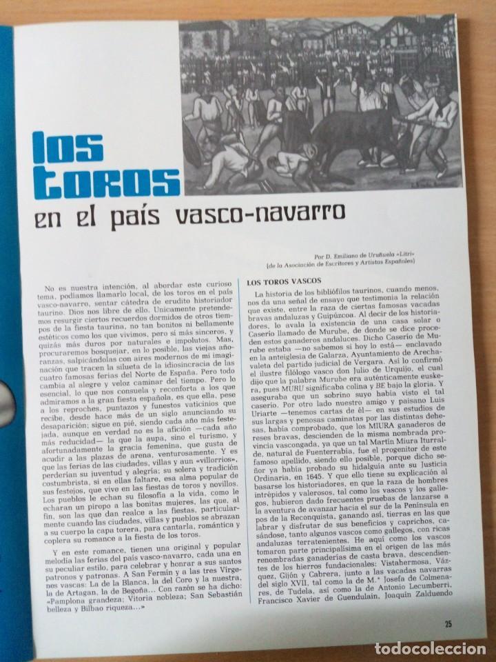 Coleccionismo de Revista Temas Españoles: REVISTA VIZCAYA TAURINA 1976 - Foto 8 - 140320826