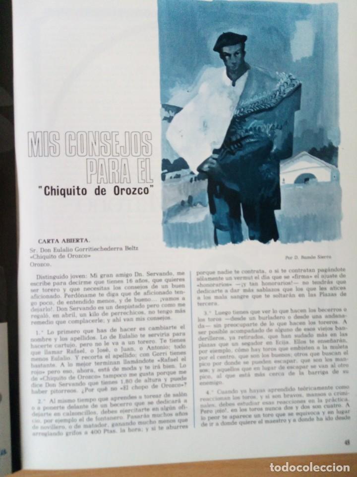 Coleccionismo de Revista Temas Españoles: REVISTA VIZCAYA TAURINA 1976 - Foto 11 - 140320826