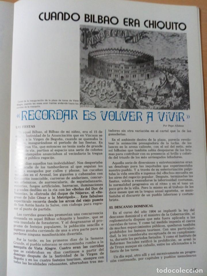 Coleccionismo de Revista Temas Españoles: REVISTA VIZCAYA TAURINA 1976 - Foto 17 - 140320826