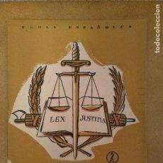 Coleccionismo de Revista Temas Españoles: TEMAS ESPAÑOLES. TRIBUNALES DE JUSTICIA. 1956. Lote 144007154