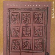 Coleccionismo de Revista Temas Españoles: TEMAS ESPAÑOLES. MUSEO Y COLEGIO DEL PATRIARCA. 1957. Lote 144012018