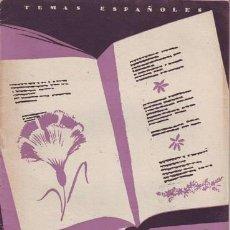 Coleccionismo de Revista Temas Españoles: MONTERO, VICENTE G: SEIS POETAS CONTEMPORANEOS. TEMAS ESPAÑOLES Nº 31.. Lote 144262598