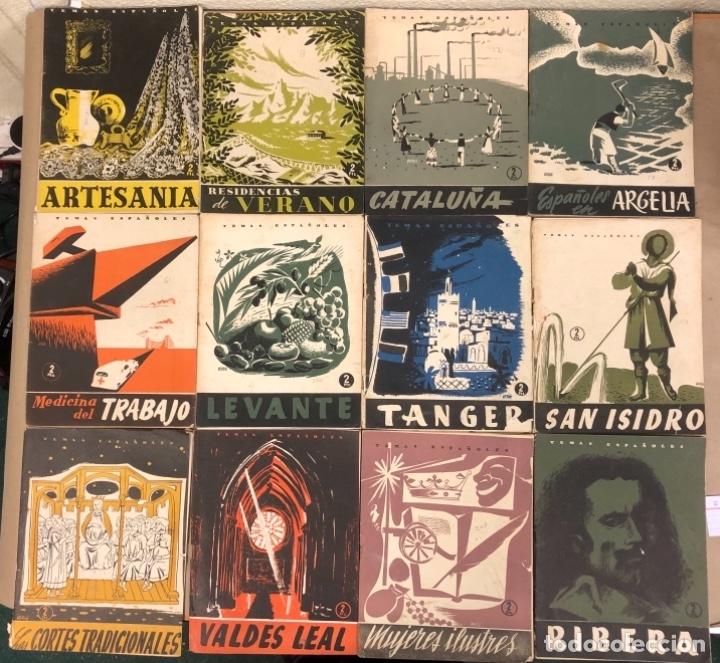 LOTE DE 12 NÚMEROS DE TEMAS ESPAÑOLES. ARTESANÍA, CATALUÑA, ESPAÑOLES EN ARGELIA, LEVANTE, TÁNGER,.. (Papel - Revistas y Periódicos Modernos (a partir de 1.940) - Revista Temas Españoles)
