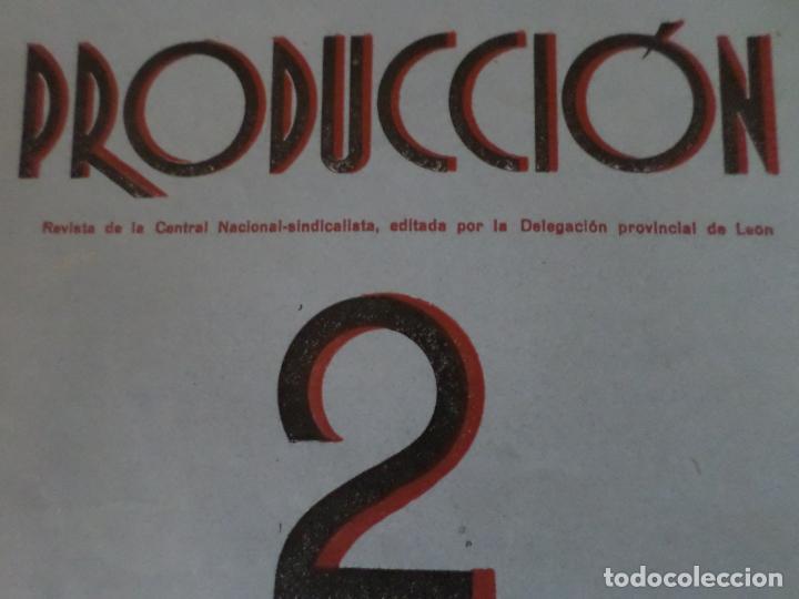 Coleccionismo de Revista Temas Españoles: REVISTAS PRODUCCION NACIONAL-SINDICALISTA LEON - Foto 2 - 151932830
