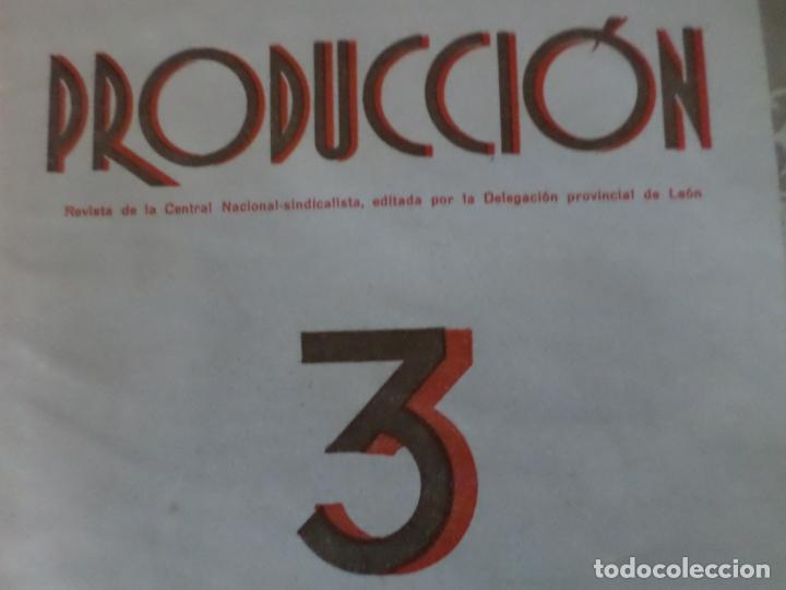 Coleccionismo de Revista Temas Españoles: REVISTAS PRODUCCION NACIONAL-SINDICALISTA LEON - Foto 3 - 151932830