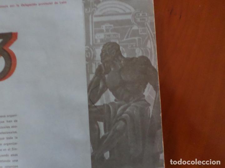 Coleccionismo de Revista Temas Españoles: REVISTAS PRODUCCION NACIONAL-SINDICALISTA LEON - Foto 5 - 151932830