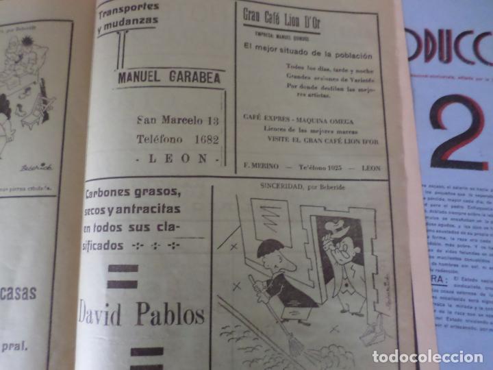Coleccionismo de Revista Temas Españoles: REVISTAS PRODUCCION NACIONAL-SINDICALISTA LEON - Foto 16 - 151932830