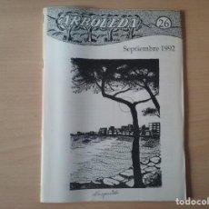 Coleccionismo de Revista Temas Españoles: REVISTA ARBOLEDA.- Nº 26 - SEPTIEMBRE 1992.. Lote 155340434
