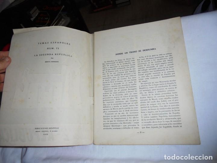 Coleccionismo de Revista Temas Españoles: HISTORIA DE LA 2ª REPUBLICA.BERTA PENSADO.TEMAS ESPAÑOLES Nº 71.-MADRID 1953 - Foto 2 - 161021838