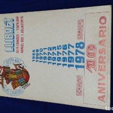 Coleccionismo de Revista Temas Españoles: LLIBRET FALLA ISLAS CANARIAS -TRAFALGAR- SAMUEL ROS 10 ANIVERSARIO. Lote 174983322