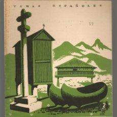 Collectionnisme de Magazine Temas Españoles: TEMAS ESPAÑOLES. Nº 59. GALICIA Y ASTURIAS. PUBLICACIONES ESPAÑOLAS. (B/A60). Lote 177666332