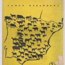 Coleccionismo de Revista Temas Españoles: TEMAS ESPAÑOLES. Nº 327. GANADERÍA. EMILIO FORNET DE ASENSI. (B/A60). Lote 177711335