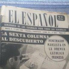 Coleccionismo de Revista Temas Españoles: EL ESPAÑOL, AÑO 1955. Lote 178563926